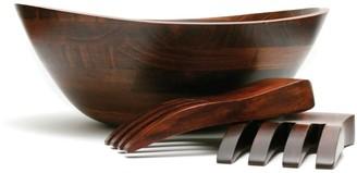 Lipper Wavy 3-pc. Acacia Wood Salad Bowl & Server Set
