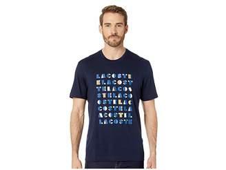 Lacoste Short Sleeve Regular Fit Letter Block Graphic T-Shirt