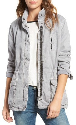 Women's James Perse Stretch Twill Utility Jacket $475 thestylecure.com