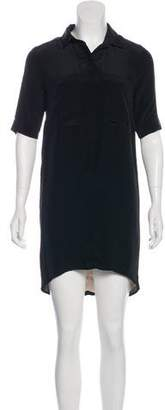 Jenni Kayne Silk Short Sleeve Mini Dress