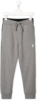 Marcelo Burlon County of Milan Kids contrast panelled track trousers