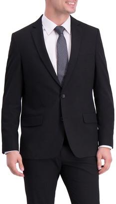 Louis Raphael Sharkskin Two Button Notch Lapel Stretch Slim Fit Suit Separates Jacket