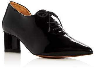Rob-ert Clergerie Robert Women's Suzanne Leather Pointed Toe Mid-Heel Oxfords