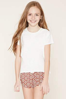 Forever 21 Girls Geo Print Shorts (Kids)