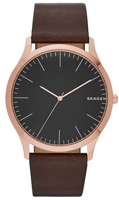 Skagen Jorn Leather Strap Watch, 41mm $125 thestylecure.com