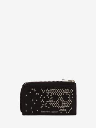 Alexander McQueen Studded Zip Coin Card Holder