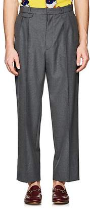 Gucci Men's Worsted Wool Pleated Trousers