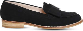 Office Present Bow suede loafers