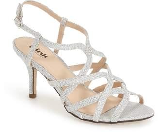 Paradox London Pink 'Rich Glitter' Sandal