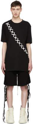 D.gnak By Kang.d Black X-String T-Shirt