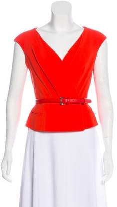 Christian Dior Sleeveless Pleated Top w/ Tags