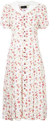 sailor collar floral dress