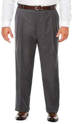STAFFORD Stafford Medium Grey Travel Woven Pleated Suit Pants - Classic Fit