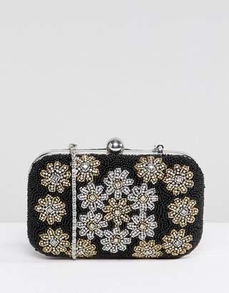 Park Lane Handmade Floral Embellished Structured Clutch Bag