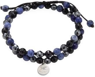 Shamballa Jean Claude Men's Adjustable Multi Beaded Bracelet
