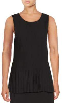 Lord & Taylor Emily Pleated Tank Top