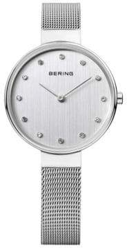 Swarovski BERING Silver Dial Classic Stainless Steel and Crystal Bracelet Watch