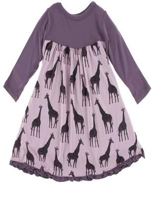 Kickee Pants Giraffe Swing Dress