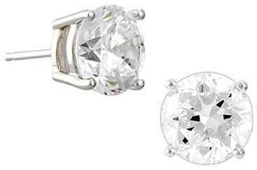 Crislu round-cut cz stud earrings