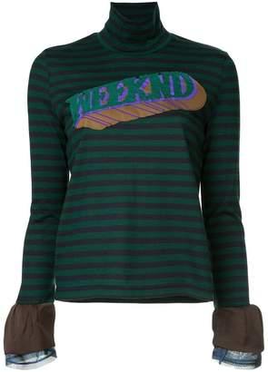 Kolor striped longsleeved blouse