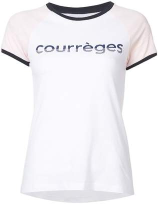 Courreges logo print T-shirt