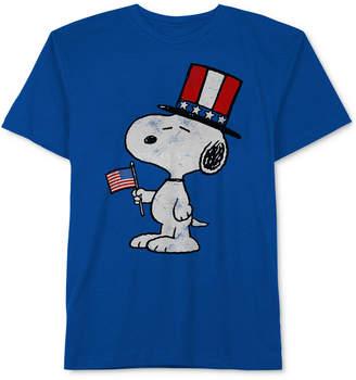 Peanuts Little Boys Snoopy-Print Cotton T-Shirt