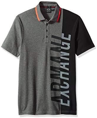 Armani Exchange A|X Men's Slim Fit Side Logo Polo