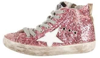 Golden Goose Girls' Glitter High-Top Sneakers