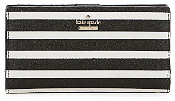 Kate Spade kate spade new york Hawthorne Lane Collection Stacy Glitter-Striped Continental Wallet