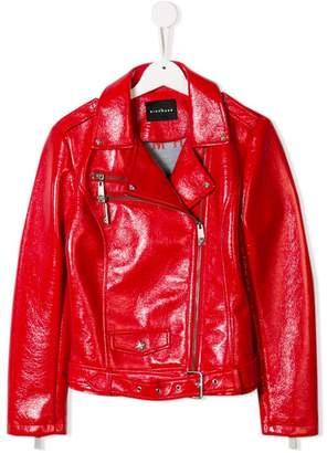 John Richmond Junior TEEN faux leather biker jacket