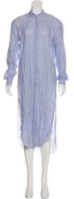 Baja East Stripe Shirt Dress