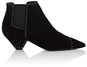 Saint Laurent Women's Blaze Studded Suede Chelsea Boots - Black