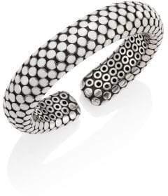 John Hardy Dot Small Sterling Silver Flex Cuff/White