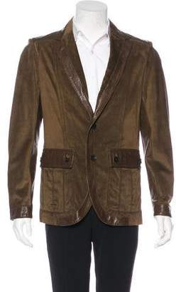 Gucci Leather & Suede Jacket