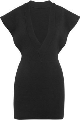 Jacquemus - Knitted Cotton Mini Dress - Black $605 thestylecure.com