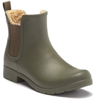 Chooka Eastlake Chelsea Faux Fur Waterproof Boot