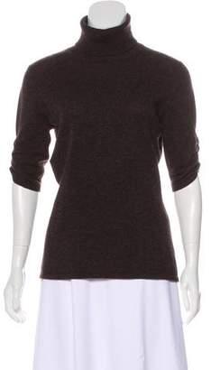 Neiman Marcus Short Sleeve Cashmere Top