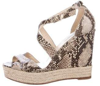 LK Bennett Embossed Platform Wedges