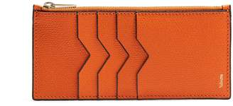 Valextra Contrast-edge grained-leather coin purse