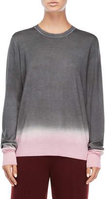 Jil Sander Dip-Dyed Crew Neck Sweater