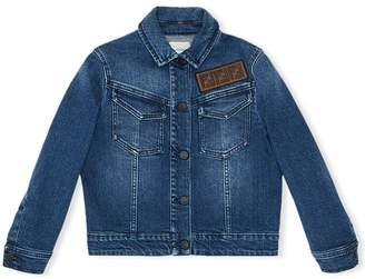 Fendi FF logo denim jacket