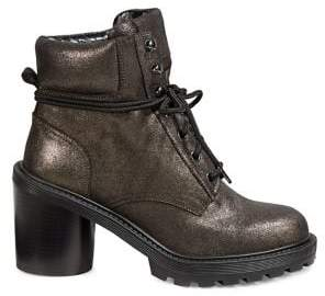 Marc Jacobs Lace-Up Leather Booties