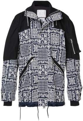 Sacai patterned lightweight jacket