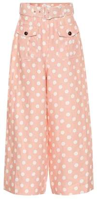 Zimmermann Corsage Safari polka-dot linen pants
