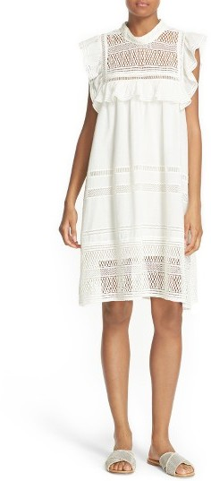 Women's Sea Baja Lace Cotton Swing Dress