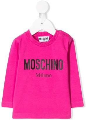 Moschino Kids logo printed sweater