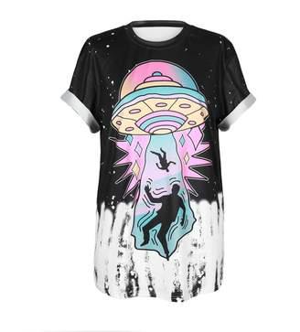 0ec68bf59d973e MHOTCIG Fashion Couple Tops Women Summer Casual T Shirt Punk Sleeve Printed  T-Shirts