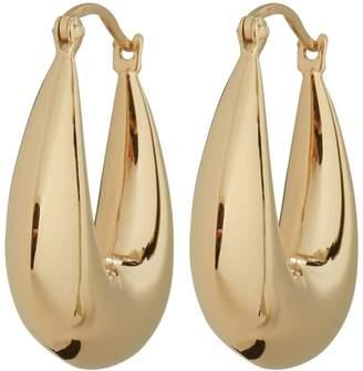 Argentovivo Thick Hoop Earrings