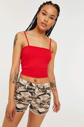 Ardene Denim High Rise Camouflage Shorts