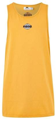 Topman Mens Yellow Mustard 'RS92' Slim Tank